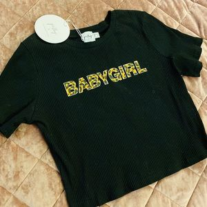 'BABYGIRL' Cropped Top